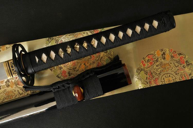 Clay Tempered Folded Steel Full Tang Blade Iron Tsuba Japanese Sword Katana