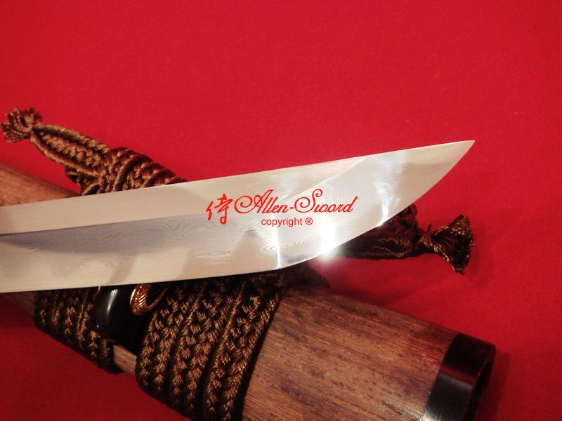 Clay Tempered Japanese Dragon Wakizashi Sword Sanmai Blade Class Polished Work