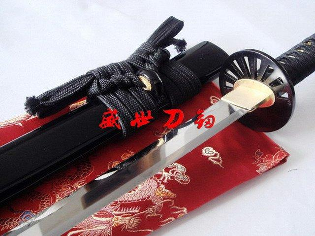 Battle Ready 9260 Spring Steel Blade Japanese Katana Prayer Wheel Tsuba Sword