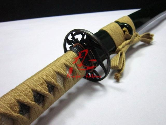 Battle Ready Japanese Katana Bamboo Tsuba 9260 Spring Steel Sharpened Sword