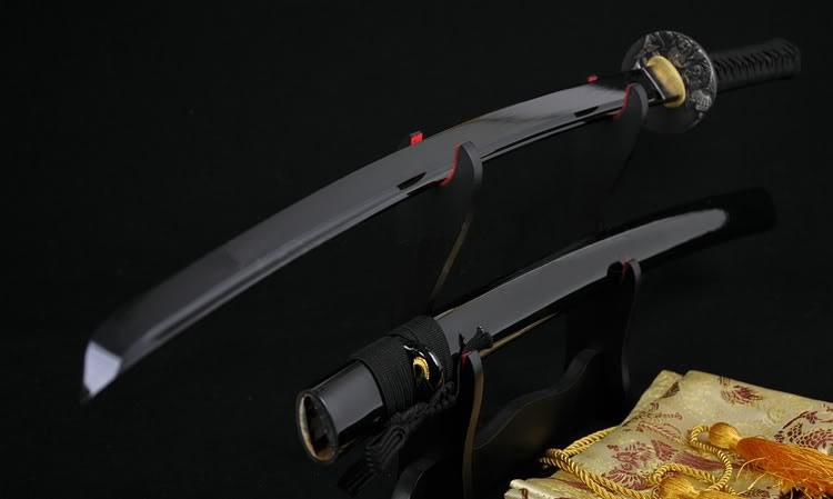 41 Inch High Quality Japanese Samurai Katana Sword Black Full Tang Blade Very Sharp