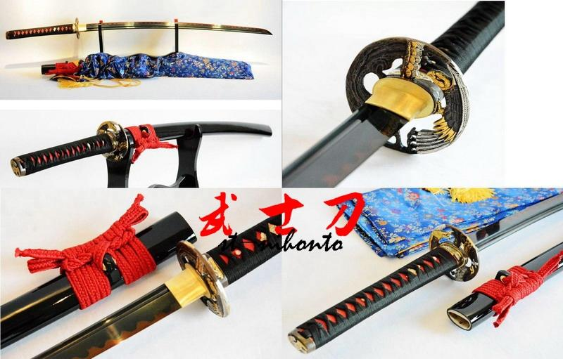 Battle Ready Clay Tempered T-10 Carbon Steel Adsorb Tungsten Eagle Tsuba Katana