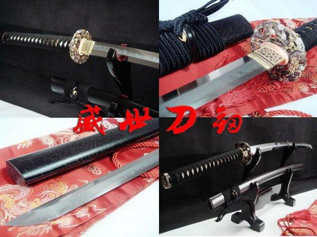 Clay Tempered Japanese Dragon Katana Sharpened Choji Hamon Blade Sword Full Tang