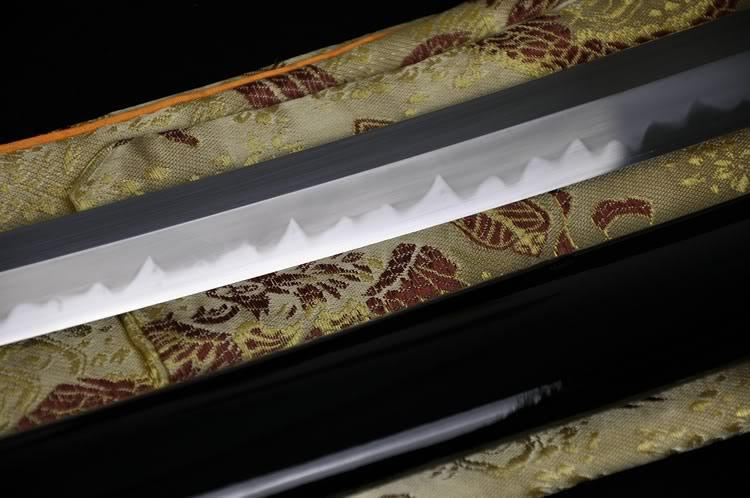 Top Quality Japanese Samurai Sword Katana Clay Tempered Abrasive Shinogi-Zukuri