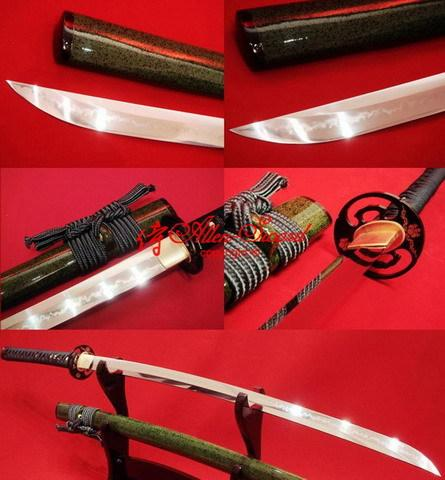 Battle Ready Japanese Sakura Samurai Katana Large Choji Hamon Full Tang Sword106