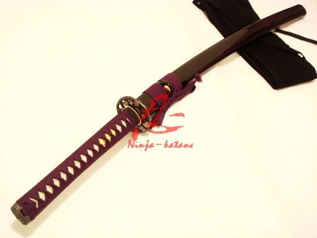 Battle Ready Japanese Samurai Katana Folded Steel Blade Folower Tsuba Shaprened Edge
