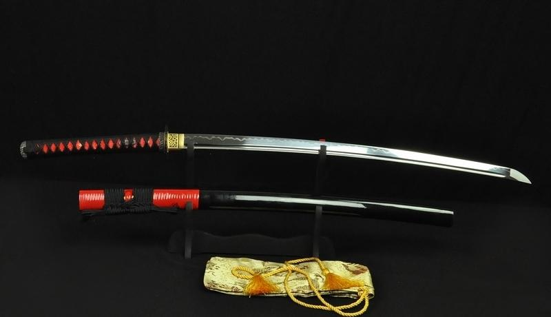 Clay Tempered Full Tang Blade Japanese Samurai Sword Katana Rattan-Covered Saya