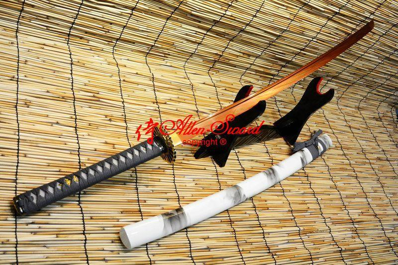 Ballte Ready Red 9260 Spring Steel Blade Japanese Full Tang Katana Sword Sharpen