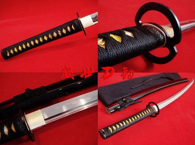 Battle Ready Japanese Samurai Katana Musashi Tsuba Functional Sword Full Tang