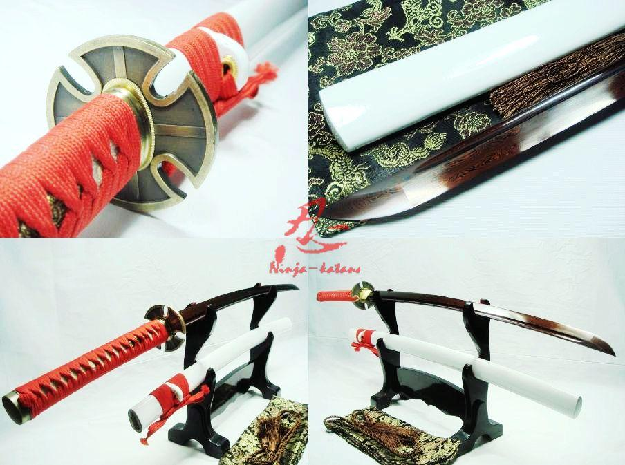Battle Ready Japanese Samurai Katana Titanium Adsorb Folded Steel Blade Sharpened Sword