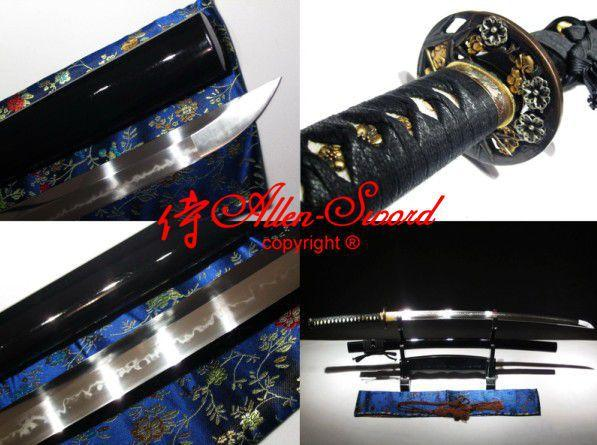 Battle Ready T10 Steel Japanese Katana Plum Blossom Tsuba Real Hamon Blade Sword