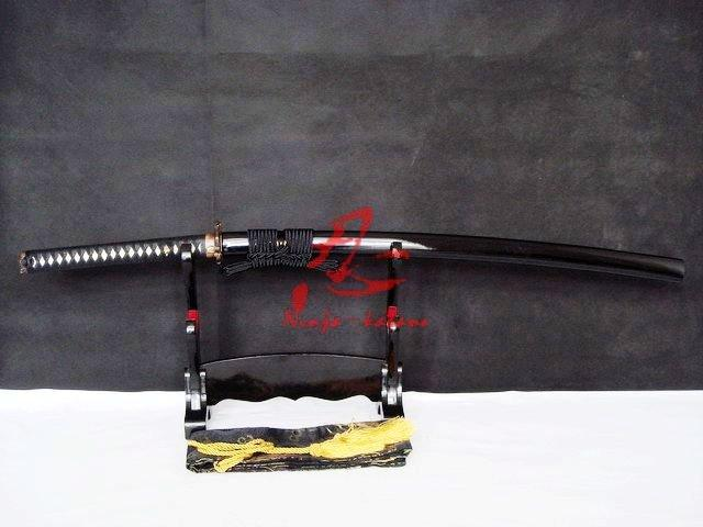 Clay Tempered Japanese Samurai Katana Demon Tsuba Sharpened