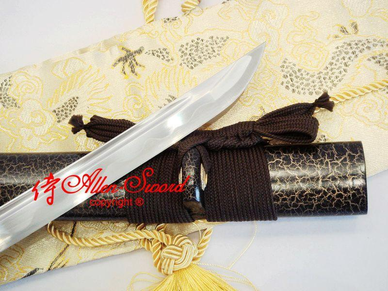Handmade Carbon Steel Full Tang Blade Unsharp Iaido Training Katana Sword