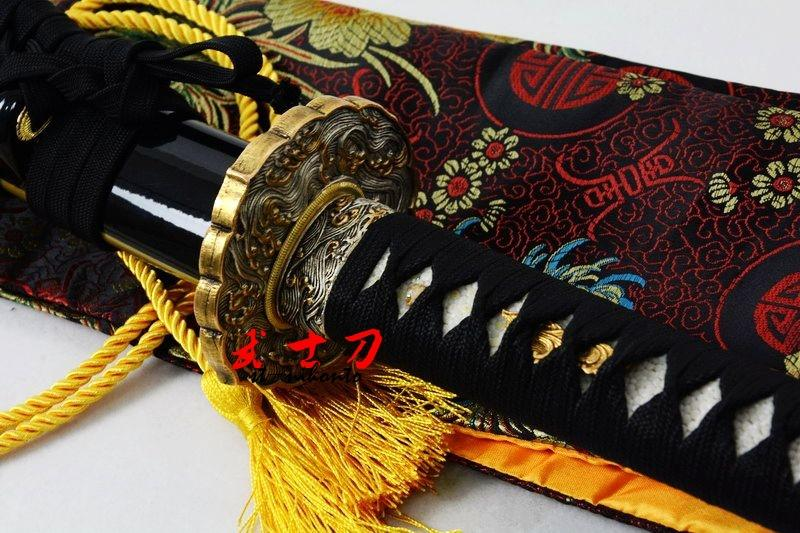 High Quality Clay Tempered T-10 Steel Full Tang Blade Katana Wave Theme Japanese Sword Choji Hamon