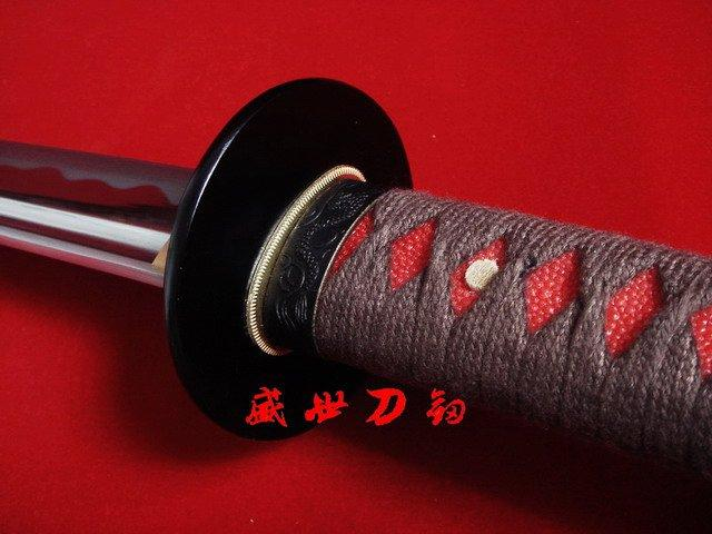 103cm High Carbon Steel Blade Japanese Katana Black Iron Tsuba Functional Sword