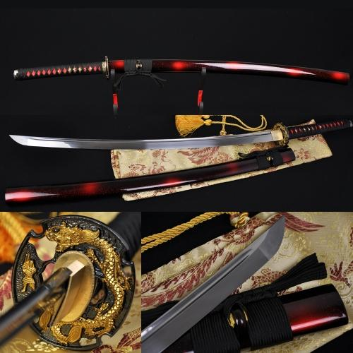 41 Inch Handmade Japanese Samurai Battle Ready Dragon Sword Katana