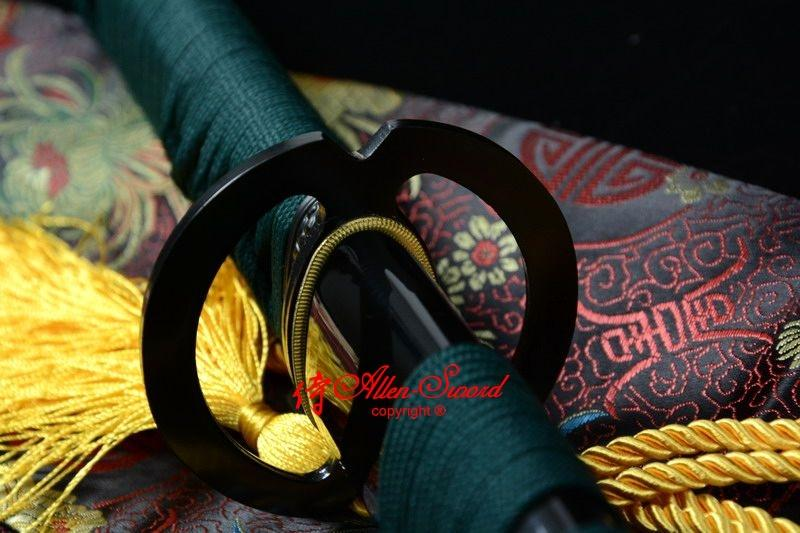 Battle Ready Japanese Musashi Tsuba Katana Sword 9260spring Steel Full Tang Blad