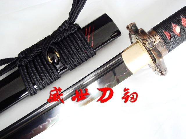 Clay Temperedt-10carbon Steel Katana Nio Tsuba Adsorb Tungsten Blade Sword Sharp