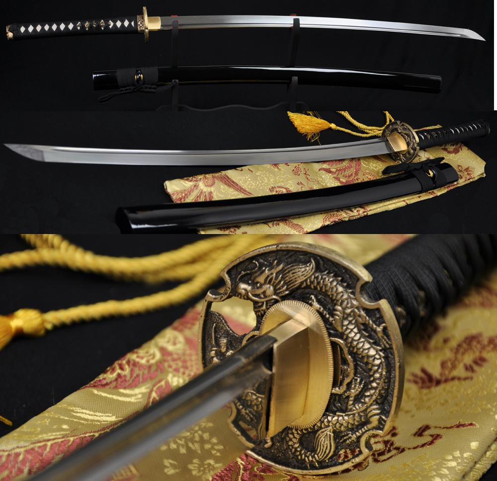 41 Inch Hand Forged Japanese Samurai Dragon Sword Katana Folded Steel Full Tang Blade