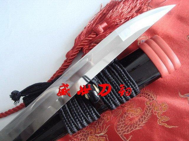 Battle Ready 9260 Spring Steel Blade Katana Knights Cross Tsuba 0-Kissaki Sword