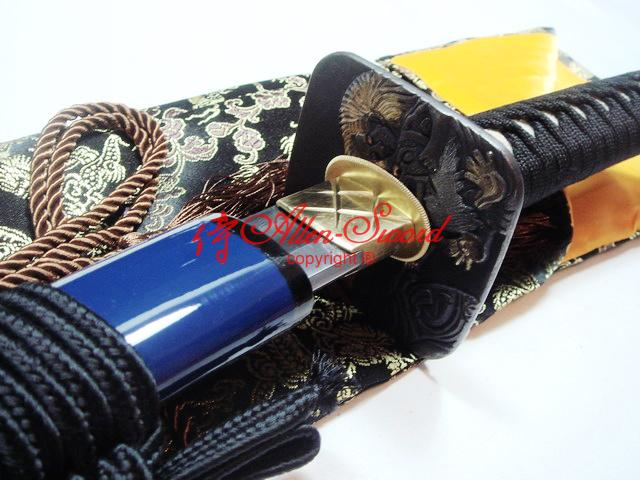 Battle Ready Japanese Samurai Afro Katana Clay Tempered Sanmai Blade Sharpened