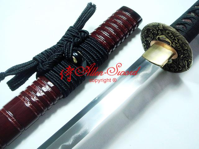Clay Tempered Shubo Zukuri Kisski Blade Dragon Tsuba Japanese Samurai Katana