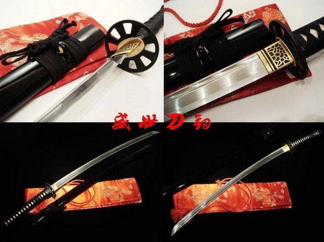 Hand Forged Folded Steel Blade Japanese Katana Empire Wheel Tsuba Sharpened