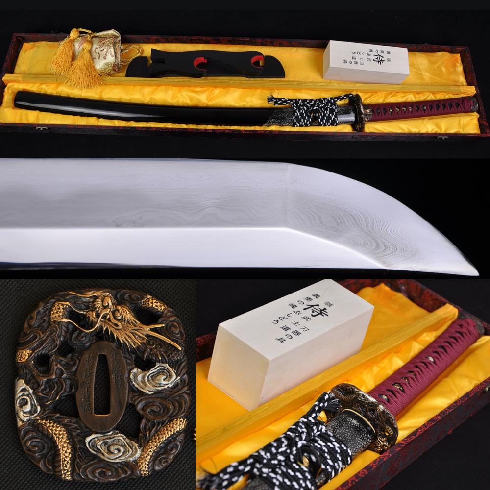 Japanese Classical Polishing Samurai Sword Clay Tempered Blade Katana Very Sharp