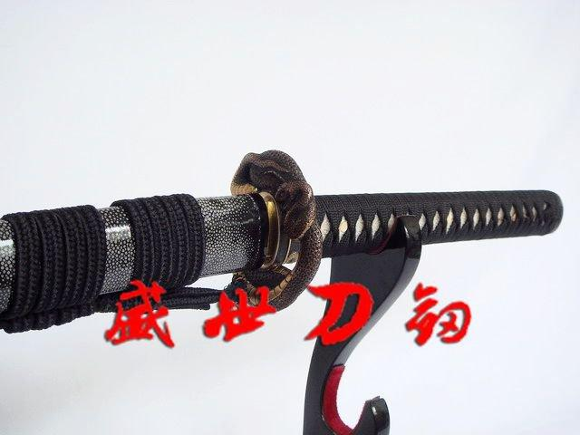 Battle Ready Clay Tempered 1095carbon Steel Japanese Samurai Katana Snake Tsuba Sharpened Blade