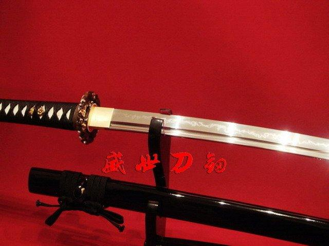 Battle Ready Clay Tempered1095 Japanese Sharpened Katana Lion Fittings Full Tang