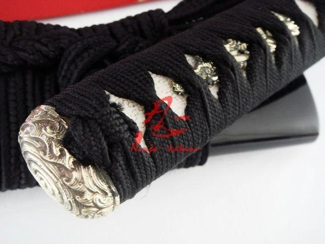 Clay Tempered Battle Ready Japanese Samurai Katana Dragon Tsuba Sword Sharpened