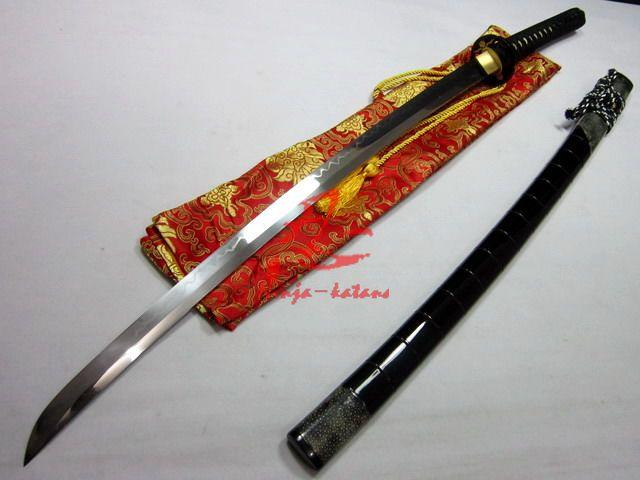 Clay Tempered T-10 Blade Katana Iron Cherry Blossom Tsuba Battle Ready Sharpened Sword