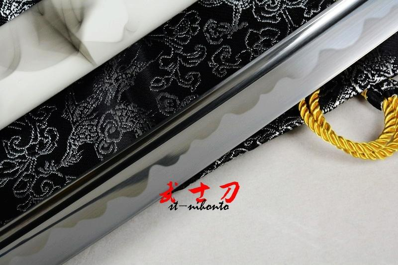 40.6 Handmade Japanese Full Tang Katana White/Black Theme Sword Sharpened