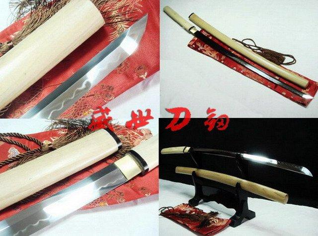 Battle Ready Clay Tempered Japanese Shirasaya Katana Sword
