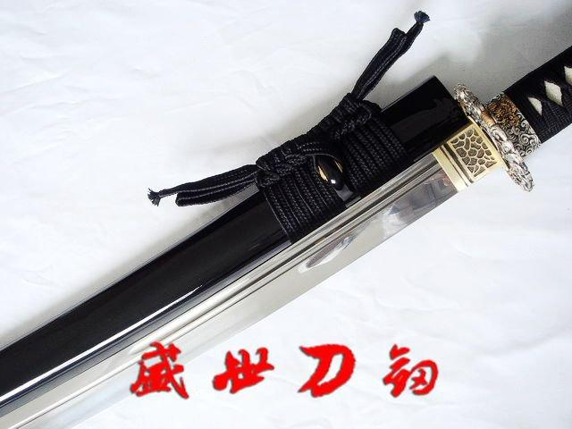 Battle Ready 117cm Japanese Naginata Sword Dragon Tsuba Sharpened Blade