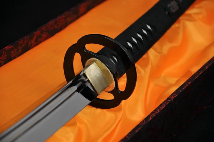 45 Inch Japanese Samurai Battle Ready Sword Naginata Musashi Tsuba Full Tang Blade
