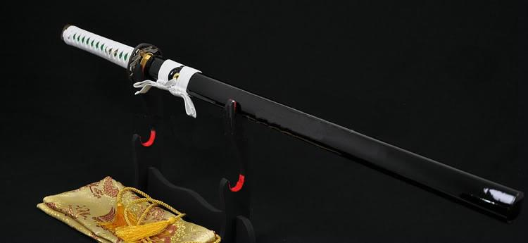 Clay Tempered Kiriha-Zukuri Blade Dragonfly Tsuba Japanese Ninja Sword