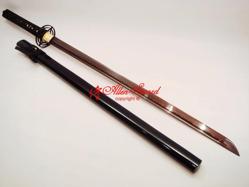 Handforged Black Red Folded Steel Japanese Ninja Sword ...
