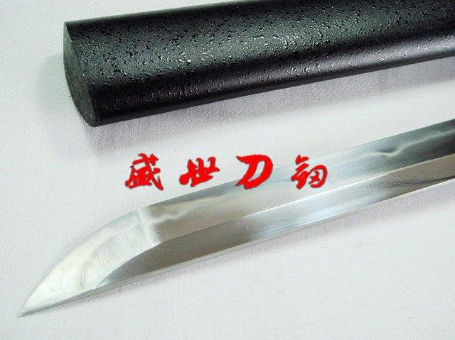 Clay Tempered Black Japanese Ninja Sword Battle Ready Blade Sharpened