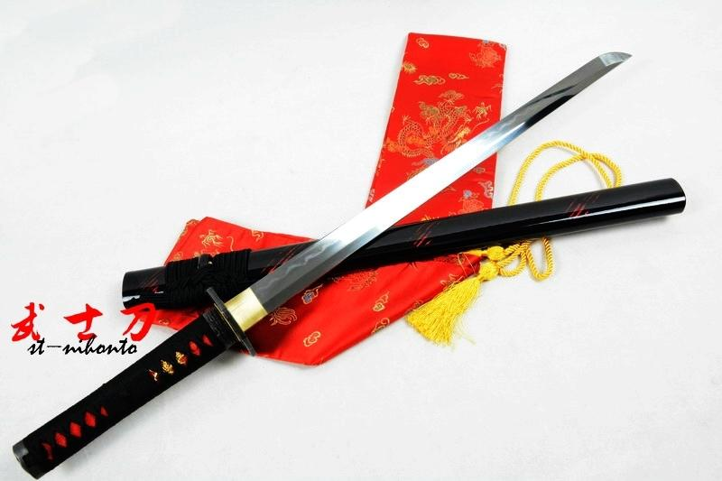 29.5 Battle Ready Clay Tempered Folded Steel Blade Japanese Ninja Katana Octagon Tsuba Sword