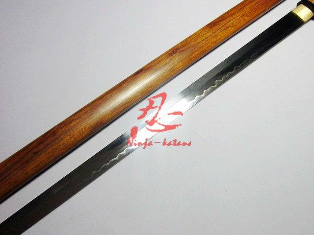 Clay Tempered 1095 Steel Ninja Sword Siam Rosewood Sheath Sharpened