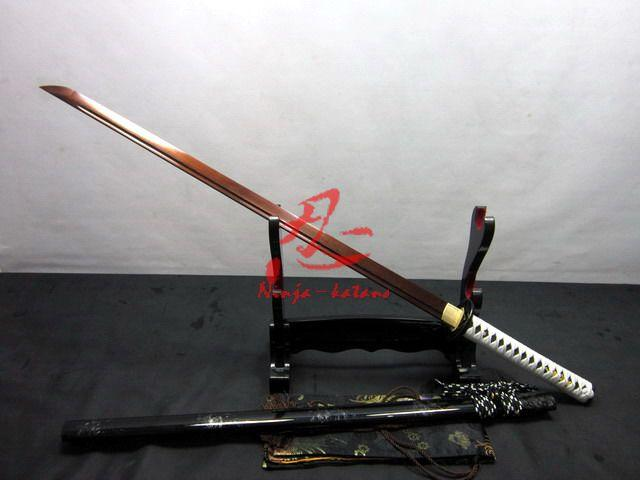 Hand Forged Japanese Iron Tsuba Ninja Katana Folded Steel Sharpened Sword