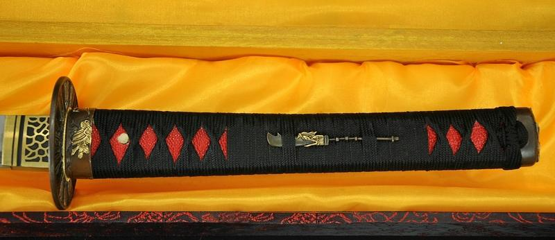 Japanese Samurai Sword Sakabato Reverse Edged Sword Clay Tempered Sharp Blade