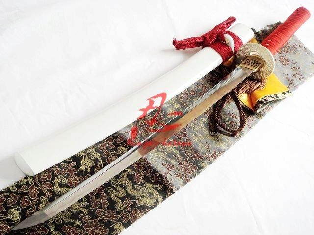 Battle Ready Clay Tempered Jp Wakizashi Katana Silver Wave Tsuba Sword Sharpened