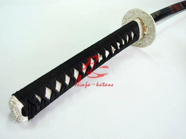 Clay Tempered Sanmai Folded Steel Blade Japanese Wakizashi Katana Sharpened