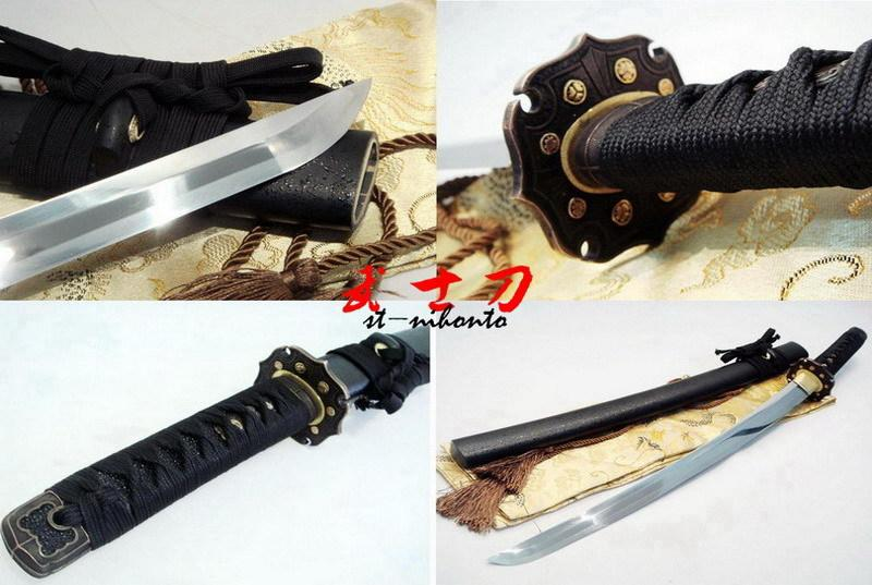 Battle Ready Spring Steel Blade Japanese Handachi Wakizashi Katana Full Tang Sword