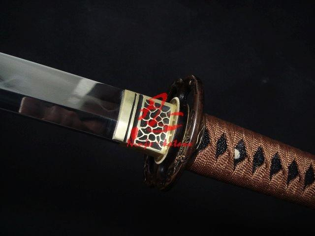 Clay Tempered Katana/Wakizashi Sword Sanmai Blade Sharpened Edge